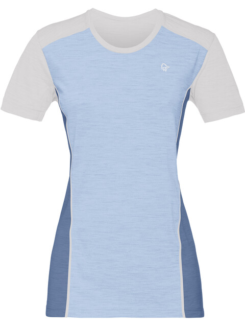 Norrøna Wool - Sous-vêtement Femme - bleu/blanc